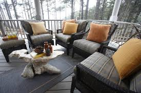 covered porch furniture. Cozy Outdoor Seating Area On Covered Porch Furniture N