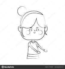 かわいい女の子アイコン ストックベクター Jemastock 140108986