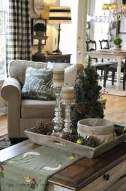 Decorating With Trays On Coffee Tables Interior Country Christmas Coffee Table Home Decorating Styles 51