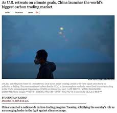 """fakenews l a times hyping the start of s new carbon market  on 19 2017 the l a times published a front page article hyping that """" launches the world s biggest carbon trading market"""" great praise"""