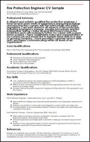 Engineering Cv Template Fire Protection Engineer Cv Sample Myperfectcv
