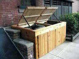 cedar wood wheelie bin storage outdoor trash can shed wonderful sheds furniture surprising cabinet