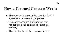 contract between 2 companies mechanics of futures and forward markets ppt video online download