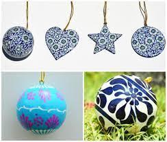 paper mache christmas ornaments xmas
