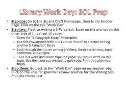 the five paragraph essay a step by step introduction ppt  step one go to the stuarts draft homepage then to my teacher page