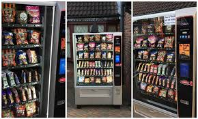Food Vending Machine Hack Code Interesting The Best Way To Do Halloween Businessman Puts Vending Machine