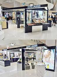 the large estée lauder cosmetics counter at myer sydney city