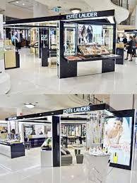 the large estée lauder cosmetics counter at myer sydney city