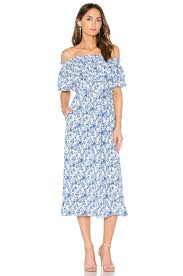 rebecca taylor off shoulder aimee dress blue combo womens rebecca taylor saks off fifth attractive