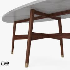 reeve mid century oval coffee table by west elm 3d model max obj mtl 3ds