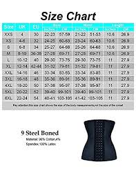 Feelingirl Waist Trainer Womens Latex 9 Steel Boned Breathable Waist Cincher Corset Body Shaper