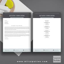 professional resume template creative cv template cover letter professional resume template cv template 1 2 and 3 page resume