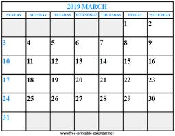 print a calendar 2019 print calendar 2019 march download print calendars from free