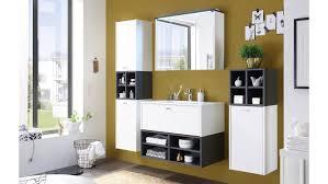 Badezimmer Fresh Komplettset Weiß Matt Und Grau Inkl Becken Und Led