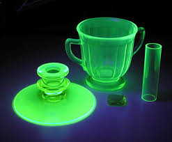 Green Glass That Glows Under Black Light Vaseline And Uranium Glass Ca 1930s