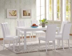 Small Picture Dining Room White Dining Room Set With Leather Dining Chairs With