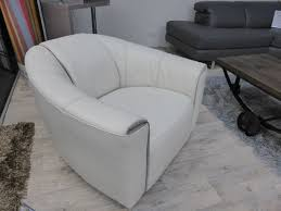 image of natuzzi editions perno swivel leather cream chair b769 ivory with regard to natuzzi
