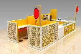 Mall Sushi Bar Modern Design Wooden Sushi Kiosk In Mall