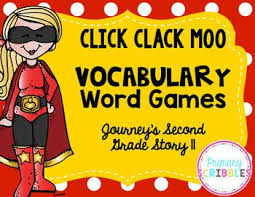 Words With Moo Click Clack Moo Vocabulary Word Games Journeys Grade 2 Lesson 11