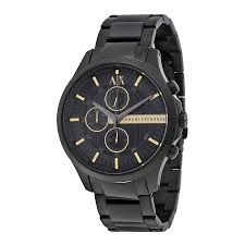 armani exchange chronograph black dial black pvd stainless steel zoom armani exchange armani exchange chronograph black dial black pvd stainless steel mens watch