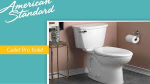 American Standard Cadet 3 Decor Cadet Pro Toilet Flushing Demo Youtube