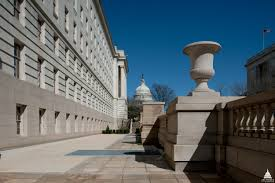 Longworth House Office Building   Architect of the Capitol    Terrace   balustrade decorated   urns