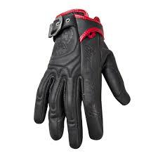 black sd strength womens moto lisa leather gloves