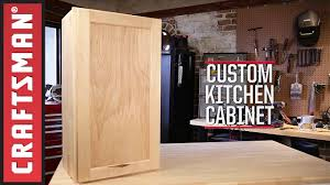 Kitchen cabinets wood Maple How To Build Kitchen Cabinets Craftsman Youtube
