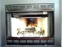 gas fireplace doors gas fireplace without glass doors