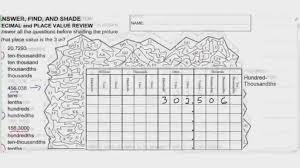 Representing Decimals With Base Ten Blocks Worksheets Comparing ...