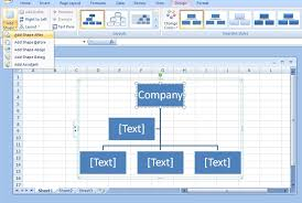 Excel Org Chart From Data How To Draw Organizational Charts Lines In Excel In Few Seconds