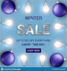Christmas Light Bulbs For Sale End Of Season Sale Banner With Christmas Lights And Bulbs