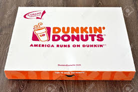 The restaurant got its current name, dunkin' donuts in 1968. Maryland Usa May 7 2016 A Box Of Dunkin Donuts With A Few Stock Photo Picture And Royalty Free Image Image 56161252