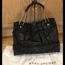 72% off Marc Jacobs Handbags - Marc Jacobs Black Leather Quilted ... & Marc Jacobs Black Leather Quilted Hobo Bag Adamdwight.com