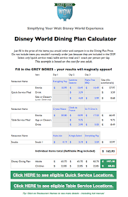 wdw meal plan calculator