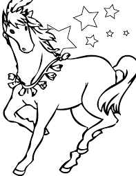 Horse Color Sheets Printable For Kids