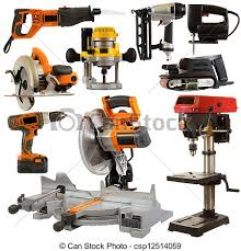 carpenter electric tools. power tools isolated on a white background - tool. carpenter electric