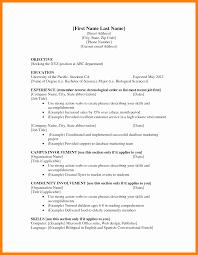 6 Cv Templates For First Jobs Lobo Development