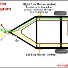 trailer wiring diagram for (4 way,5 way,6 way,7 way) pin trailer how to wire trailer lights 4 way diagram at 4 Way Trailer Wiring