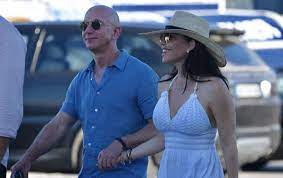Jeff Bezos, appears with a mysterious ...
