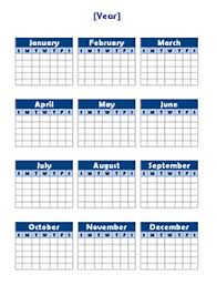 Free Yearly Blank Calendar Template Printable Blank Yearly