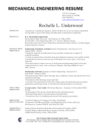 Mechanical Engineer Resume Samples And Writing Guide Examples