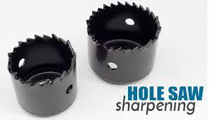 hole saw. hole saw sharpening