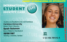 Graduate University Isic Students' Association Cards Carleton