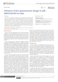 Package Design Survey Questions Pdf Influence Of The Questionnaire Design In Self