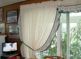 image of handmade country ruffled curtains