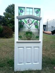 stained glass door stained glass panels for front doors 4 panel with wi