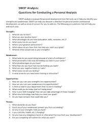 Swot Analysis Table Template Personal Swot Analysis Examples Template Sample Professional