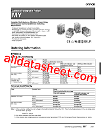 myn datasheet pdf omron electronics llc my4n datasheet pdf omron electronics llc