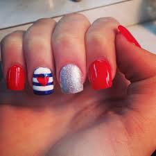 Nail Designs : Red White And Black Nail Art Designs Dotted Style ...